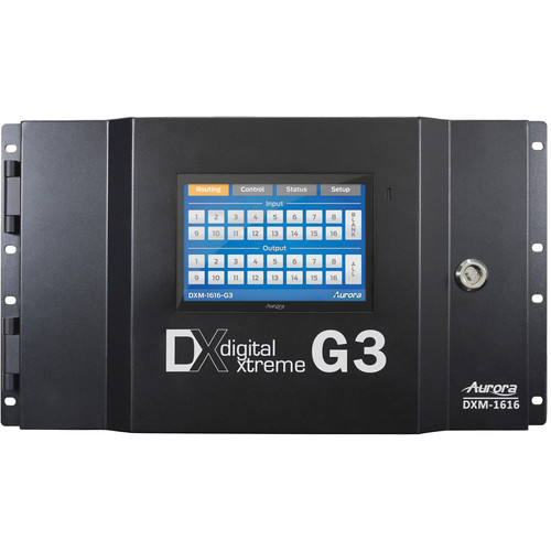 Aurora Multimedia DXM-1616-G3 16x16 4K Modular Matrix Switcher Chassis