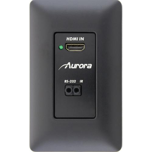 Aurora Multimedia DXW-1 HDBaseT Wall Plate Transmitter (Black)