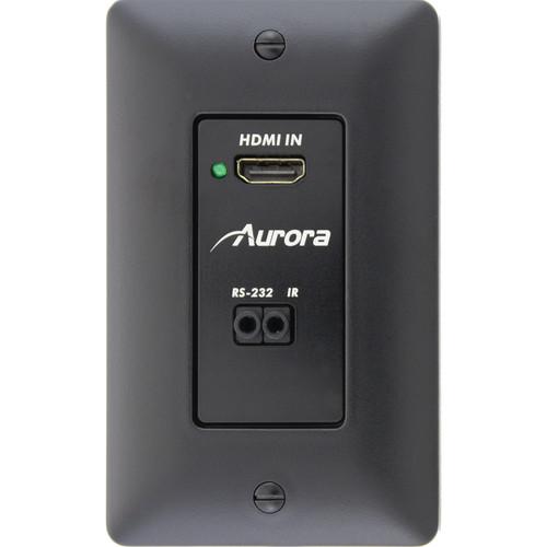 Aurora Multimedia DXW-1-TX-K 1-Gang HDBaseT Wall Plate Transmitter (Black)