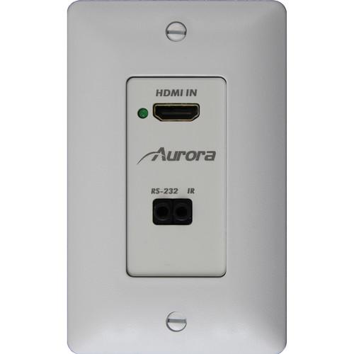 Aurora Multimedia DXW-1-TX-K 1-Gang HDBaseT Wall Plate Transmitter (White)