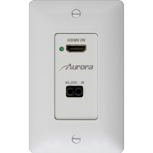 Aurora Multimedia DXW-1 HDBaseT Wall Plate Transmitter (White)