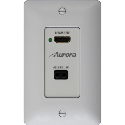 Aurora Multimedia HDMI 4K over HDBaseT Decora Wall Plate Transmitter with RS-232 & IR (230')