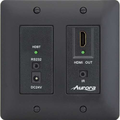 Aurora Multimedia DXW-2-RX1 HDBaseT Wall Plate Receiver (Black)