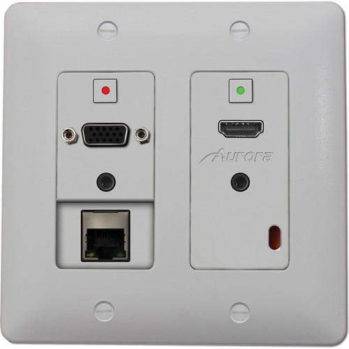 Aurora Multimedia DXW-2E 2-Gang HDBaseT Wall Plate Transmitter