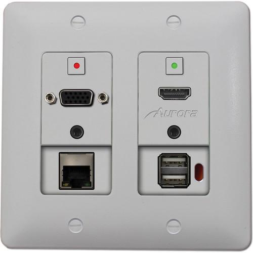 Aurora Multimedia DXW-2EU 2-Gang HDBaseT Wall Plate Transmitter