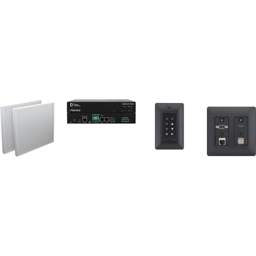Aurora Multimedia DXW-2-B Transmitter & DXE-CAT-RX3-A Extender One Room-One Cable Kit with Web-Based Control System
