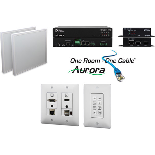 Aurora Multimedia One Room-One Cable Kit with Ethernet & USB (White)