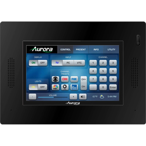 """Aurora Multimedia 5"""" In-Wall HD Color Touch Panel Dual-Core Control System (Black)"""
