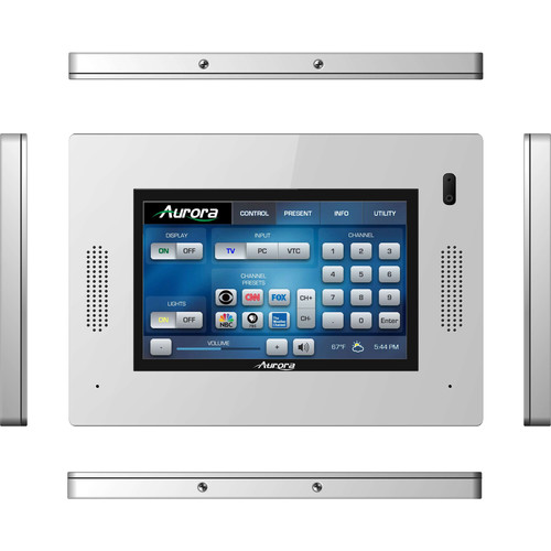 """Aurora Multimedia 5"""" In-Wall HD Color Touch Panel Dual-Core Control System (White)"""