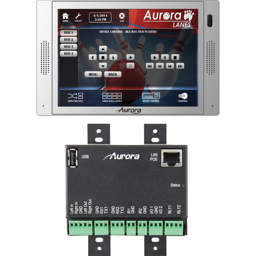 "Aurora Multimedia QXT-700 7"" In-Wall Touch Panel Controller (White)"
