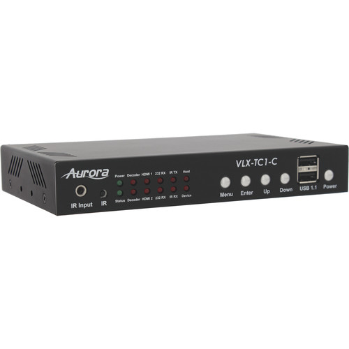 Aurora Multimedia 4K UHD 1Gbps Streaming Transceiver with Two HDMI Inputs and One HDMI Output
