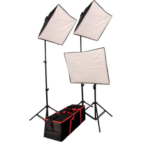 Autocue/QTV 3-Head Softbox Lighting Kit