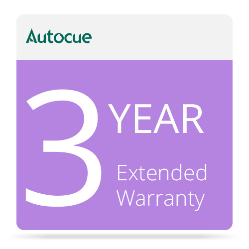 AutocueQTV 3-Year Extended Warranty for PSP12 Prompter Monitor