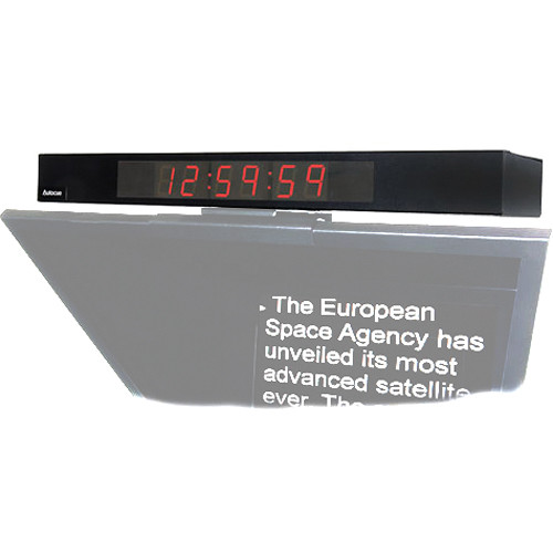 Autocue/QTV Digital Clock Display for Master/Professional Series Teleprompter