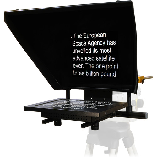 """AutocueQTV Professional Series 12"""" Teleprompter with Folding Hood"""