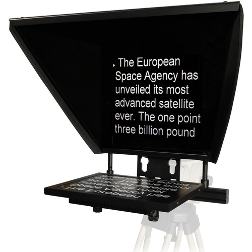 """AutocueQTV Professional Series 17"""" Teleprompter with Folding Hood"""