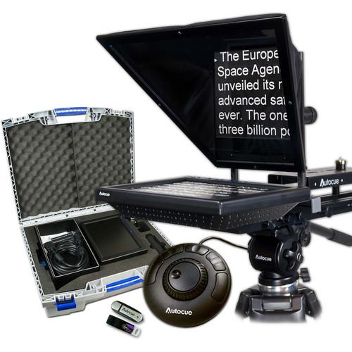 "Autocue/QTV 10"" Prompter Package, QStart, Controller & Carry Case"