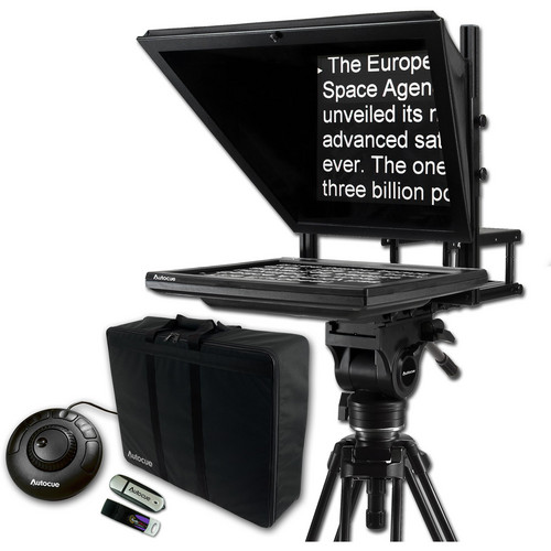 "Autocue/QTV 17"" Prompter Package, QStart, Controller & Carry Case"