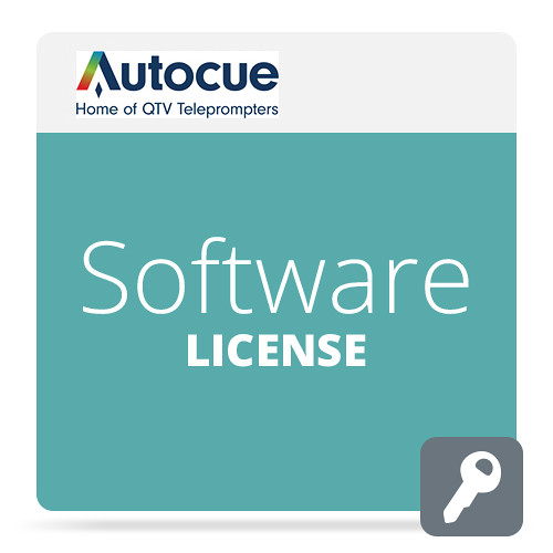 AutocueQTV Software License Package for QMaster Teleprompter