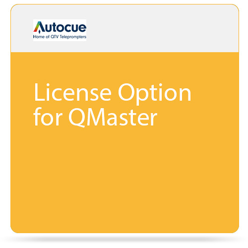 Autocue/QTV License Option for QMaster