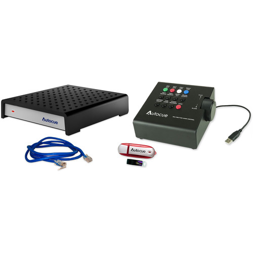 Autocue/QTV QMaster SDI and QBox V6 Package with USB Multi-Button Hand Control