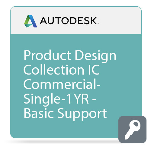 Autodesk Product Design Collection IC Commercial New Single-user ELD Annual Subscription with Basic Support