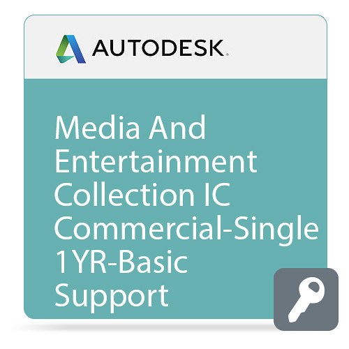 Autodesk Media and Entertainment Collection IC Commercial New Single-user ELD Annual Subscription - Basic Support