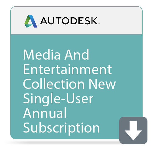 Autodesk Media And Entertainment Collection Ic Commercial New Single-User Eld Annual Subscription With Basic