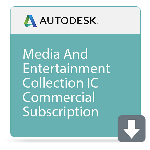 Autodesk Media And Entertainment Collection IC Commercial New Single-User ELD Annual Subscription With Advanc