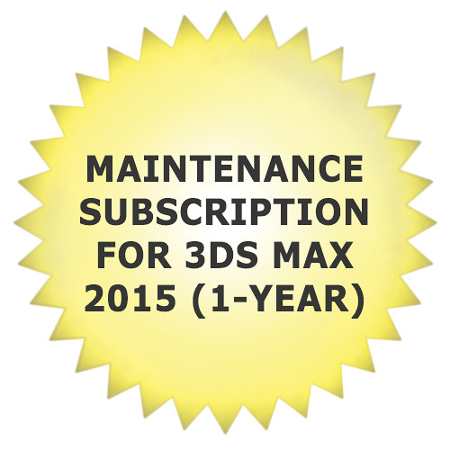 Autodesk Maintenance Subscription for 3ds Max 2015 (1-Year)