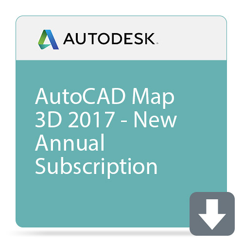 Autodesk AutoCAD Map 3D 2017 with Basic Support (1-Year Subscription, Download)