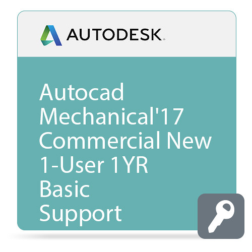 Autodesk AutoCAD Mechanical 2017 with Basic Support (1-Year Subscription, Download)