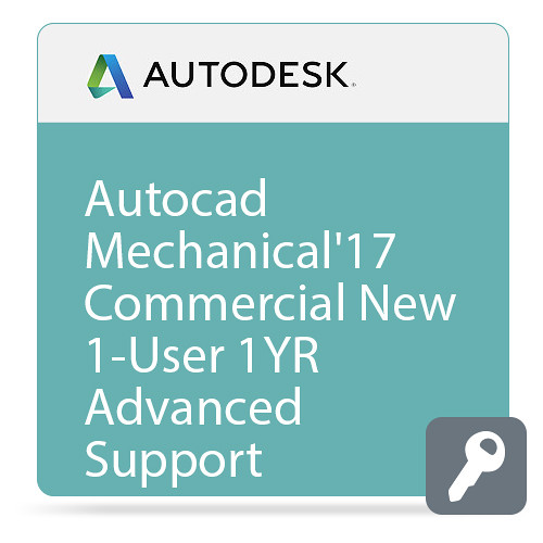 Autodesk AutoCAD Mechanical 2017 Commercial New Single-user ELD Annual Subscription - Advanced Support