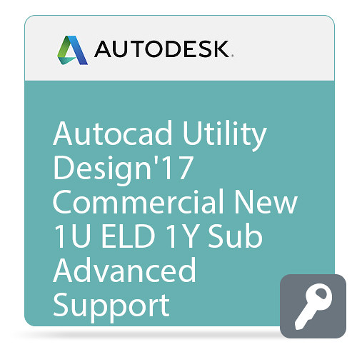 Autodesk AutoCAD Utility Design 2017 Commercial New Single-user ELD Annual Subscription - Basic Support
