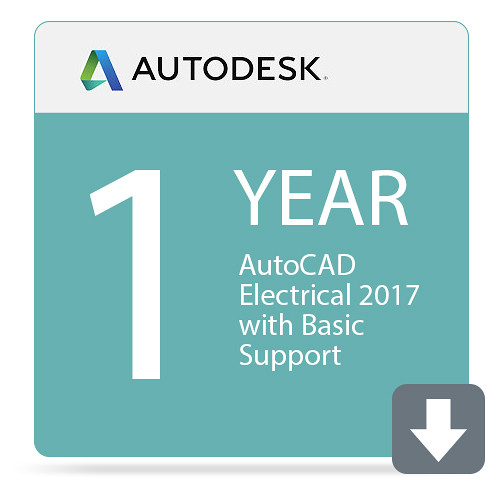 Autodesk AutoCAD Electrical 2017 with Basic Support (1-Year Subscription, Download)