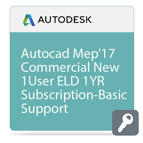 Autodesk AutoCAD MEP 2017 Commercial New Single-user ELD Annual Subscription - Basic Support