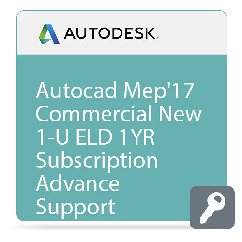 Autodesk AutoCAD MEP 2017 Commercial New Single-user ELD Annual Subscription - Advanced Support