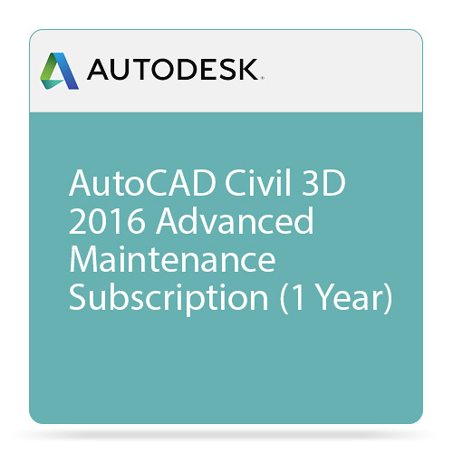 Autodesk AutoCAD Civil 3D 2016 Advanced Support (1-Year Subscription, Download)