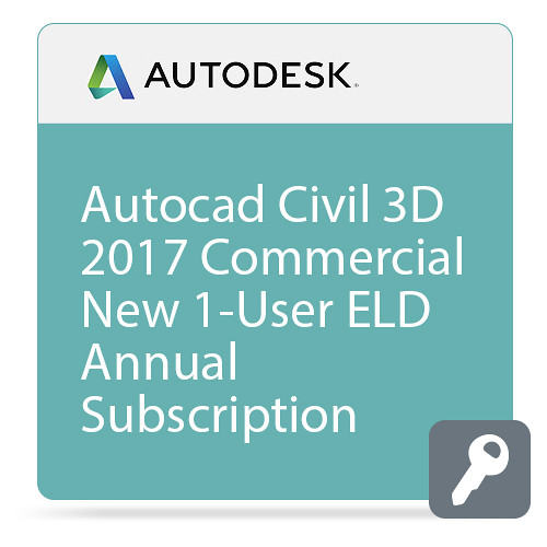 Autodesk AutoCAD Civil 3D 2017 with Advanced Support (1-Year Subscription, Download)