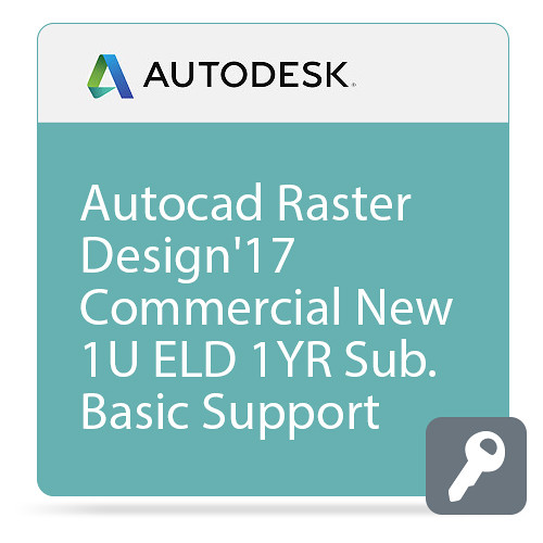 Autodesk AutoCAD Raster Design 2017 with Basic Support (1-Year Subscription, Download)