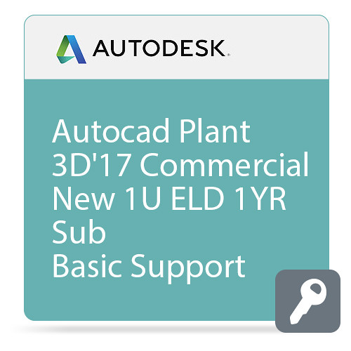 Autodesk AutoCAD Plant 3D 2017 with Basic Support (1-Year Subscription, Download)