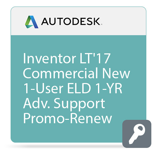 Autodesk Inventor LT 2017 Commercial New Single-user ELD Annual Subscription - Advanced Support - PROMO - Renew