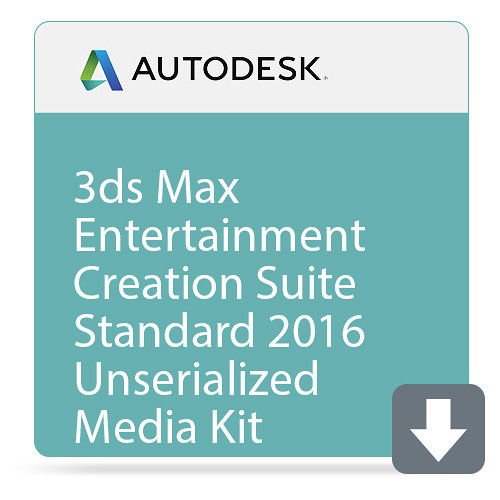 Autodesk 3ds Max Entertainment Creation Suite Standard 2016 Unserialized Media Kit