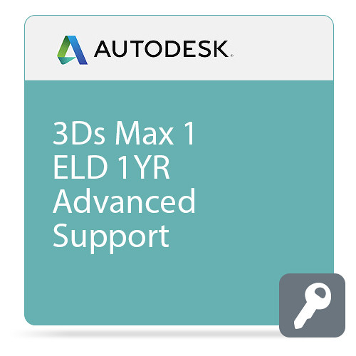 Autodesk 3Ds Max Entertainment Creation Suite Standard 2016 Commercial New 1-User ELD 1 Year Subscription Advanced Support