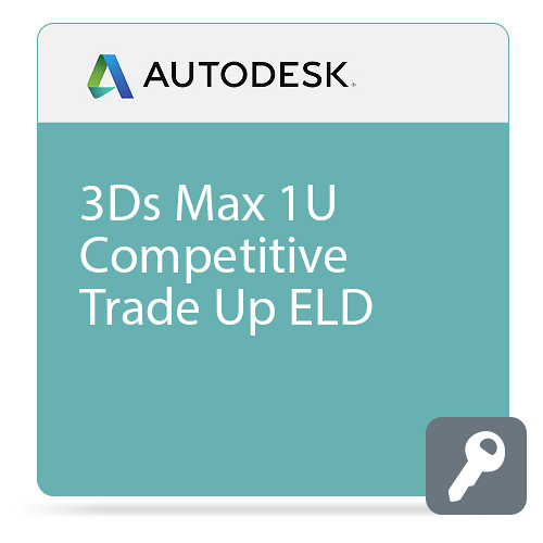 Autodesk 3Ds 3Ds Max Entertainment Creation Suite Standard 2016 Commercial New 1-Use Competitive Trade Up ELD
