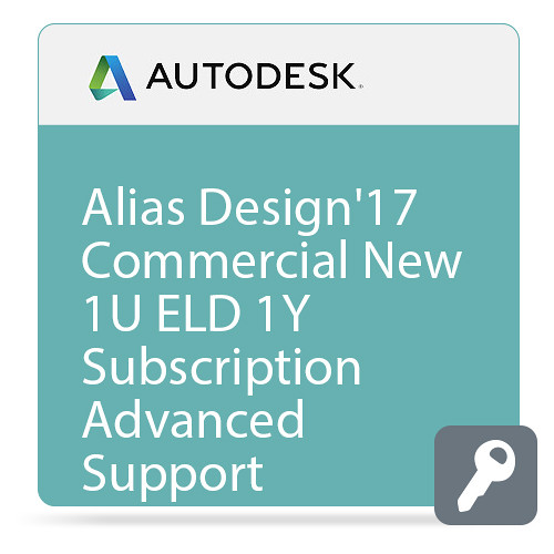 Autodesk Alias Design 2017 with Advanced Support (1-Year Subscription, Download)