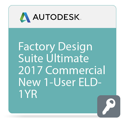 Autodesk Factory Design Suite Ultimate 2017 Commercial New Single-user ELD Annual Subscription