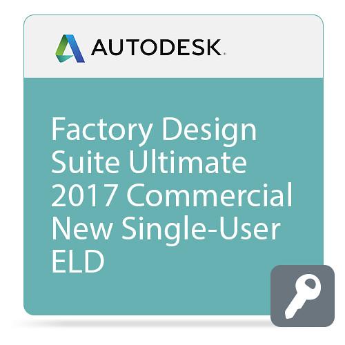Autodesk Factory Design Suite Ultimate 2017 Commercial New Single-user ELD