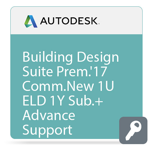 Autodesk Building Design Suite Premium 2017 Commercial New Single-user ELD Annual Subscription - Basic Support