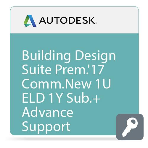 Autodesk Building Design Suite Premium 2017 Commercial New Single-user ELD Annual Subscription - Advanced Support